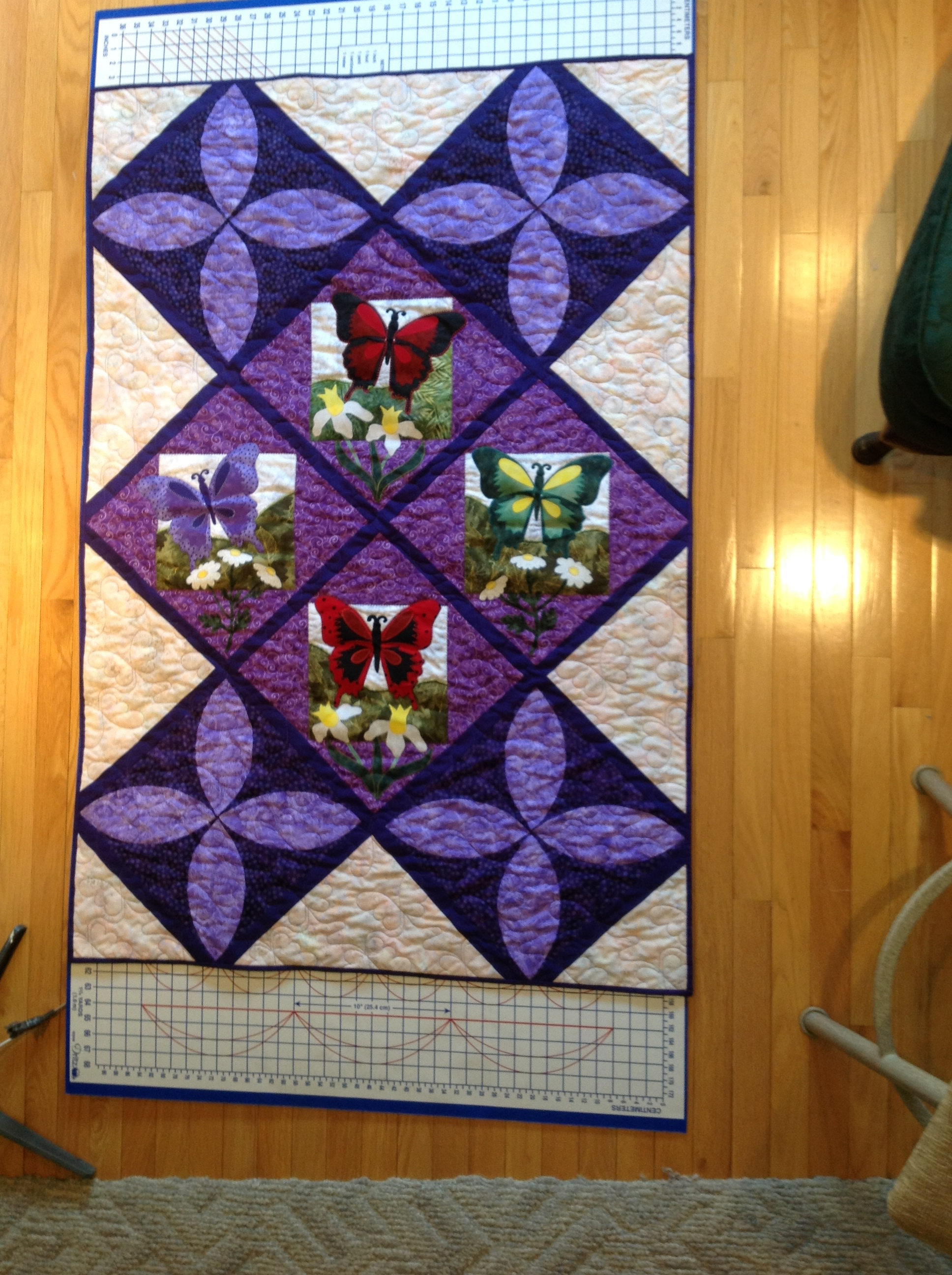 Quilt, Butterfly, Purple